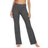 VIISHOW Bootcut Yoga Pants for Women with Pockets High Waisted Workout Pants for Women Bootleg Work Pants Dress Pants(Black Dot,Small)
