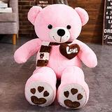 Decanyue 60cm/100cm Huggable 4 Colors Teddy Bear with Scarf Stuffed Animals Bear Plush Toys Doll Pillow Kids Lovers Birthday Baby Gift 60cm 3