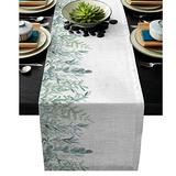 JHJUH Table Runner Plant Watercolor Leaves Art Modern Table Runners Cloth Holidays Party Wedding Decoration Table Runner Dining Table Cover-41x183cm