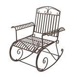 CJWSLYT Bent Armrest Single Rocking Chair Dark Brown Rocking Chair Bench Garden Garden Chair Park Chair Garden Leisure Decoration Patio Sofa ZDANFDD
