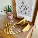 Madewell Shoes   Madewell The Leila Sandal In Curry Powder Suede   Color: Yellow   Size: 8