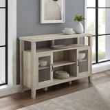 """""""52"""""""" Rustic Wood TV Stand - White Oak - Walker Edison BU52JORWO"""""""
