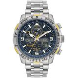 Promaster Skyhawk Perpetual Alarm Chronograph Blue Dial Watch -52l - Blue - Citizen Watches