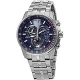 Pcat Radio Controlled Chronograph Blue Dial Watch -54l - Blue - Citizen Watches