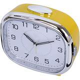 Electronic Alarm Clocks Silent Small Alarm Clock with Snooze Function Analog Alarm Clock Easily Set Lazy Alarm Clock Battery Powered Digital Alarm Clock-Yellow Fantastic