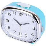 Electronic Alarm Clocks Silent Small Alarm Clock with Snooze Function Analog Alarm Clock Easily Set Lazy Alarm Clock Battery Powered Digital Alarm Clock-Blue Fantastic