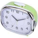 Electronic Alarm Clocks Silent Small Alarm Clock with Snooze Function Analog Alarm Clock Easily Set Lazy Alarm Clock Battery Powered Digital Alarm Clock-Green Fantastic
