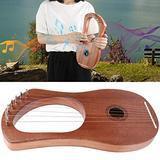 Durable Musical Instrument, 7 String Lyre Harp, 7 Metal Kids Gift for Friends Children