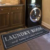 Grey Laundry Room Rug, Vintage Laundry Room Mats Shabby Rug Laundry, Rubber Foamed Laundromats Cabinet/Washhouse/Kitchen Floor Mat, 20X48