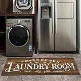 Vintage Wood Carpet for Laundry Room, Non Slip Laundry Runner Rug Waterproof Kitchen Laundry Room Floor Mat, Farmhouse Rug Laundry Doormat Entrance Rug (20''X48'' Wooden Plank)