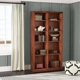 World Menagerie Didier Double Wide Standard Bookcase Wood in Blue/Black, Size 72.0 H x 45.0 W x 13.75 D in   Wayfair WLDM8173 40131012