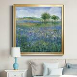 Charlton Home® Rolling Hill - Picture Frame Painting Print on Canvas Canvas & Fabric in Black/Blue/Brown, Size 28.0 H x 28.0 W x 1.0 D in | Wayfair