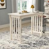 Mistana™ Araceli Counter Height Solid Wood Dining TableWood in Brown/White, Size 36.0 H x 48.0 W x 24.0 D in   Wayfair