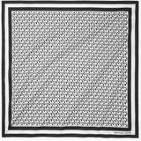 Logo Cotton Scarf - Black - Michael Kors Scarves