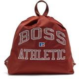 Drawstring Bag In Lightweight Nylon With Exclusive Logo - Brown - BOSS by Hugo Boss Backpacks