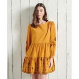 Anisa Embroidered Dress - Yellow - Superdry Dresses