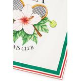 Casa Tennis Club Silk Scarf - Green - CASABLANCA Scarves