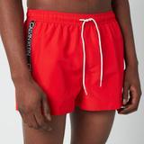 Drawstring Swim Shorts - Red - Calvin Klein Beachwear