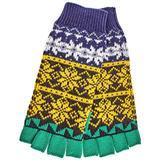 Fair Isle Wool Cashmere Cotton Fingerless Gloves - Yellow - Burberry Gloves