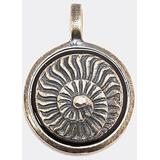 'ammonite' Silver Charm - Metallic - Tateossian Necklaces