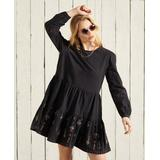 Anisa Embroidered Dress - Black - Superdry Dresses