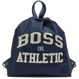 Drawstring Bag In Lightweight Nylon With Exclusive Logo - Blue - BOSS by Hugo Boss Backpacks