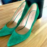 Nine West Shoes | Nine West Green Suede Pumps | Color: Green | Size: 6.5