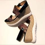 Anthropologie Shoes | Anthropologie | 9 | Kaanas Wedges | Comfort! | Color: Brown/Tan | Size: 39eu