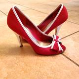 Jessica Simpson Shoes   Jessica Simpson Red Peep Toe Heels   Color: Red   Size: 5.5