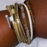 Torrid Jewelry   Magnetic Bracelet   Color: Cream/Tan   Size: Os