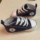 Converse Shoes   Converse Infant Baby Toddler High Top Crib Shoes   Color: Blue   Size: 4bb