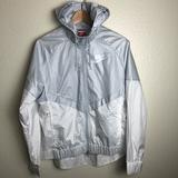 Nike Jackets & Coats | Nike Womens White And Silver Windbreaker Nwt | Color: Silver/White | Size: M
