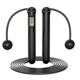 Skipping Ropes Jump Rope for Children Fitness Women Kids Adults Outdoor Digital Calories with Counter,Black