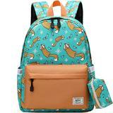 Preschool Backpack Kindergarten Little Kid Toddler School Backpacks for Boys and Girls with Chest Strap Brown Fox