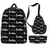 Cookies 3pcs Travel Sports Backpacks Adult Backpacks Kids Backpacks, Men'S And Ladies Backpacks Boys And Girls Backpacks