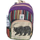 Mini Hemp Backpack Small Back Pack Hippie Bag Pack Briefcase Festival Bag Pack 100% Hemp| 100 VEGAN | FAIR TRADE | Handmade with Love