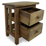 "Zerone Nightstand, Original Ecology Solid Reclaimed Wood Nightstand Handmade Sideboard with 2 drawers15.7""x11.8""x20.1"""