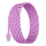 Tech Zebra Lightning Cables Light - Light Pink 10-Foot Charging Cable For Lightning