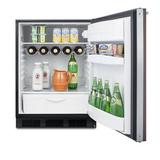 Summit Appliance 5.5 Cubic Feet cu. ft. Mini Fridge Metal in Black/Brown, Size 33.25 H x 23.5 W x 25.25 D in | Wayfair FF63BKBIWP1