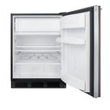 Summit Appliance 5.1 Cubic Feet cu. ft. Mini Fridge w/ Freezer Metal in Black/Brown, Size 33.25 H x 23.63 W x 25.75 D in | Wayfair CT663BKBIWP1