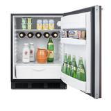Summit Appliance 5.5 Cubic Feet cu. ft. Mini Fridge Metal in Black/Brown, Size 32.25 H x 23.5 W x 25.25 D in | Wayfair FF63BKBIWP1ADA