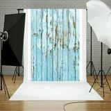 East Urban Home Vinyl Wood Wall Floor Photography Studio Prop Backdrop Background 3X5ft C in Blue, Size 59.0 H x 35.4 W in | Wayfair