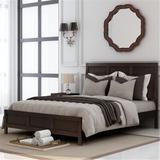 Red Barrel Studio® Classic Queen Platform Bed In Rich Brown No Box Spring Needed (Freely Configurable Bedroom Sets) Wood in Brown/Green | Wayfair