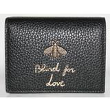 Gucci Bags | Gucci Blind For Love Bee Card Case Wallet | Color: Black/Gold | Size: Os