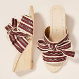Anthropologie Shoes   Anthropologie New Red Wedge Leather Sandals Size 7   Color: Red/Tan   Size: 7