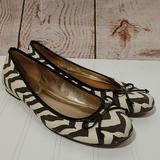 Coach Shoes | Coach Lonna Zebra Print Ballet Flats | Color: Gold | Size: 9.5