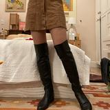 Anthropologie Shoes | Black Over The Knee Riding Boots - Miss Albright | Color: Black | Size: 7