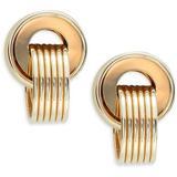 14k Yellow Gold Double Hoop Earrings - Metallic - Saks Fifth Avenue Earrings