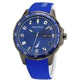 Analog Blue Silicone Strap Watch 48 Mm - Blue - Nautica Watches
