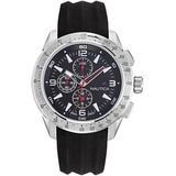 Analog Black Resin Strap Watch 49mm - Black - Nautica Watches
